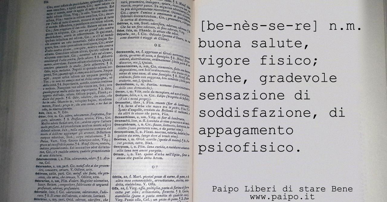 Benessere-dizionario